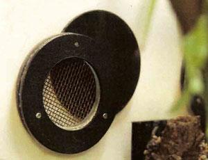 Заслонка на вентиляционном отверстии